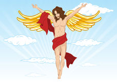 Male angel vector illustration. Fully editable. Male devil also available. View my full portfolio for more details Stock Images