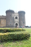 Male Angevin. Ancient and historic architecture of the castle of Naples headquarters of both tourism Stock Photo