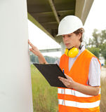 Male architect checking work progress Royalty Free Stock Images