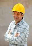 Male architect at a construction site Stock Image