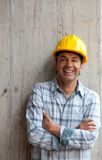 Male architect at a construction site Royalty Free Stock Photos