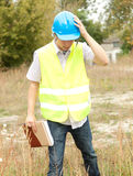 Male architect in construction site Stock Photos