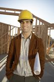 Male Architect At Construction Site Royalty Free Stock Image