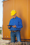 Male Architect With Digital Tablet Royalty Free Stock Photography