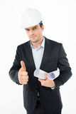 Male architect in hard hat Stock Photos