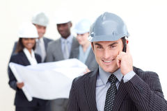 Male architect with his team Stock Photo