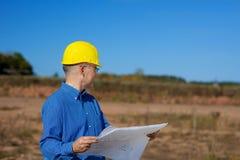 Male Architect Holding Blueprint Stock Image