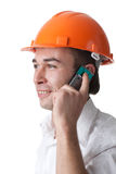 Male architect with a mobile phone Stock Photography