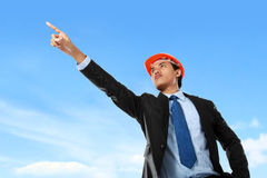 Male architect pointing stock image