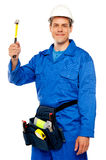 Male architect team guy holding hammer Royalty Free Stock Photography