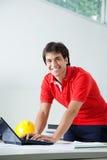 Male Architect Using Laptop Royalty Free Stock Image