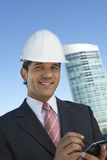 Male Architect Using Mobile Phone Royalty Free Stock Photos