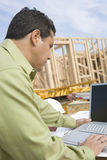 Male Architect Working On Laptop stock images