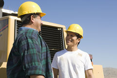 Male Architects At Construction Site stock image