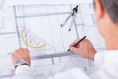 Male arkitekt Royaltyfri Foto