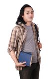 Male Asian Student Smiling Stock Photography