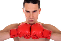 Male athlete boxer Royalty Free Stock Photos
