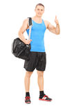 Male athlete giving thumb up Royalty Free Stock Images