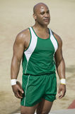 Male Athlete Holding Discus Royalty Free Stock Images