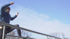Male athlete outdoor stock video footage
