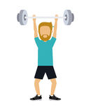 Male athlete practicing weight lifting  isolated icon design Stock Photography