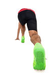 Male athlete in ready to run position Royalty Free Stock Images