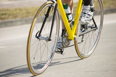 Male Athlete Riding Bicycle Stock Images