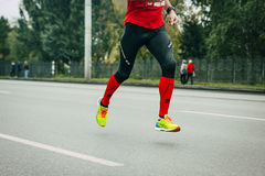 Male athlete running on a city street Royalty Free Stock Photo