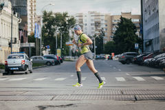 Male athlete running Royalty Free Stock Image