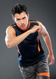 Male athlete running Royalty Free Stock Image