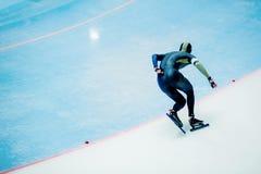 Male athlete speed skater Stock Images