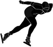 Male athlete speed skating Stock Photos