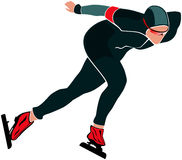 Male athlete speed skating Stock Photography