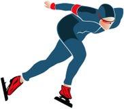 Male athlete speed skating Royalty Free Stock Image