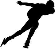 Male athlete speed skating Royalty Free Stock Photo