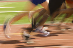 Male Athletes Racing Stock Photography