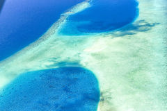Male Atoll Ocean Aerial VIew Stock Image