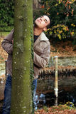 Male autumn portrait Royalty Free Stock Photo