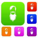 Male avatar with beard set collection Royalty Free Stock Photos