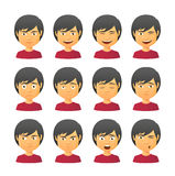 Male avatar expression set Royalty Free Stock Photography