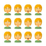 Male avatar expression set Royalty Free Stock Photo