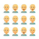 Male avatar expression set Royalty Free Stock Photos
