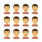 Male avatar expression set Stock Photography
