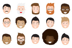 Male avatar icons vector set. Stock Photos