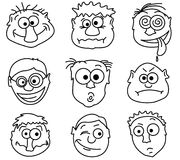 Male avatars. Faces icons. Part1 - male avatars Royalty Free Stock Images