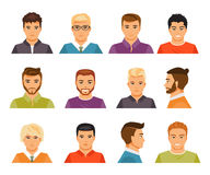 Male avatars Royalty Free Stock Photo