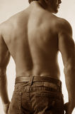 Male back in jeans Royalty Free Stock Photo