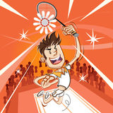 Male Badminton Player Stock Images