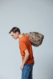 Male with bag Royalty Free Stock Image
