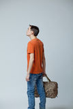 Male with bag Stock Photo